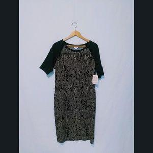 LuLaRoe Julia Raglan Shirt Fitted Bodycon Dress